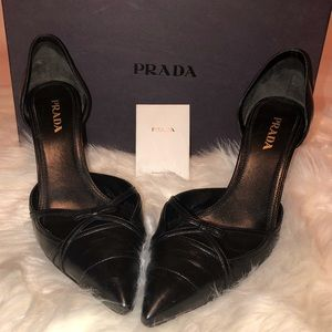PRADA LEATHER D'ORSAY PUMPS